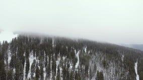 Trutnia materiał filmowy chmurny, mglisty krajobraz, może być widzieć wydźwignięciem przez niskich chmur zbiory wideo