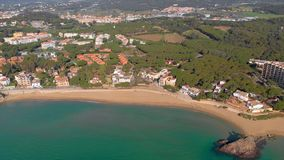 Trutnia materia? filmowy nad Costa Brava nabrze?ny, ma?y wioska los angeles Fosca Hiszpania zbiory