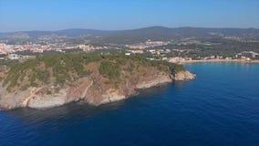 Trutnia materia? filmowy nad Costa Brava nabrze?ny, ma?y wioska los angeles Fosca Hiszpania zdjęcie wideo