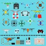 Trutnia quadcopter wektor royalty ilustracja