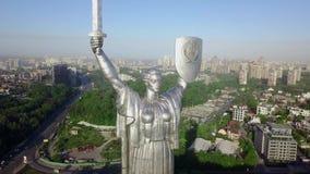 Trutnia wideo Macierzysty kraju ojczystego zabytek w Kijów, Ukraina Zdjęcie Royalty Free