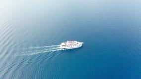 Trutnia Wideo Powietrzny wideo promu statek w adriatic morzu - Chorwacja zbiory wideo