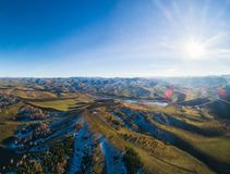 Trutnia widok jesień krajobraz zdjęcie royalty free