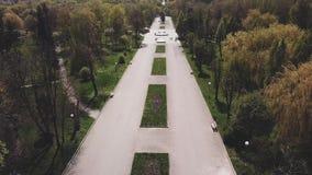 Trutnia widok na alei w parku na s?onecznym dniu w wio?nie w miasteczku zbiory