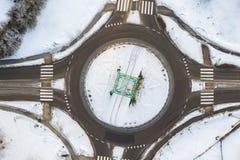 Trutnia widok rondo na pogodnym zima wieczór dniu obrazy stock