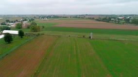 Trutnia widok z lotu ptaka Amish Rolne ziemie i Amish Niedzieli spotkanie zbiory