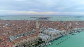 Trutnia widok z lotu ptaka nad Wenecja, Włochy marco plac San zbiory