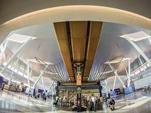 Trveling platser på en amerikansk flygplats Royaltyfri Bild
