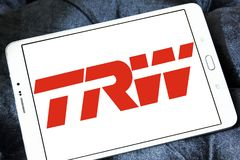 TRW Automotive logo. Logo of TRW Automotive on samsung tablet . TRW Automotive is an American global supplier of automotive systems, modules, and components to Stock Images