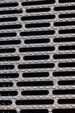 Trwała stalowa greting pokrywa na kanału ściekowego odcieku manhole Zdjęcie Stock