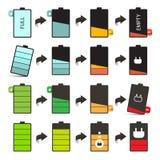 Trwałość Baterii Wektorowe ikony Ustawiać Fotografia Stock