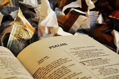 Trwałość biblia, tło Zdjęcia Stock