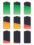 Trwałości Baterii ikony set Zdjęcia Stock