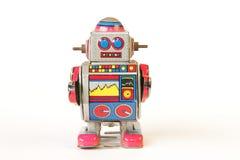 trwanie rocznik cyny robot, prosta twarz bez klucza Zdjęcia Stock