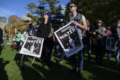 Trwanie skała protest w Toronto Fotografia Royalty Free