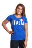 Trwanie włoska dziewczyna fotografia royalty free
