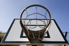 Trwały koszykówka obręcz Obraz Royalty Free