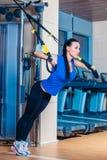 TRX aptidão, esportes, exercício, tecnologia e Imagem de Stock Royalty Free