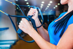 TRX. fitness, sports, exercise, technology and Stock Images