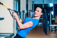 TRX. fitness, sports, exercise, technology and royalty free stock photos