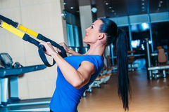 TRX. fitness, sports, exercise, technology and Stock Image