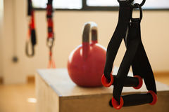 TRX and kettlebell royalty free stock image