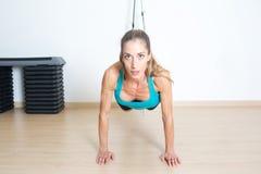 Trx legs exercise Royalty Free Stock Image