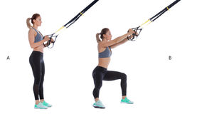 TRX step side lunge Royalty Free Stock Image