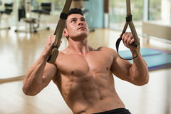 Trx Straps Training Royalty Free Stock Images