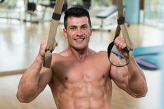 Trx Straps Training stock photo
