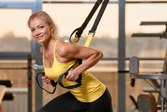 TRX training Stock Photo
