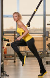 TRX training Stock Image