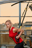 TRX training Stock Photography