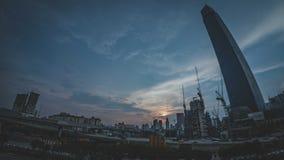 TRX Tun Razak Exchange oder Turm des Austausches 106 stockbild