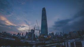 TRX Tun Razak Exchange oder Turm des Austausches 106 stockfotografie