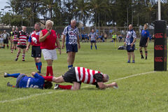 Try. Event:  The Fifth World Vintage Rugby Carnival, 24.IX.12 Royalty Free Stock Photography