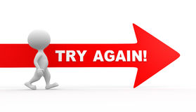 Try again! Royalty Free Stock Photo