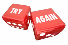 Try Again Persistence Determination Roll Dice Royalty Free Stock Photo