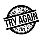Try Again rubber stamp. Grunge design with dust scratches. Effects can be easily removed for a clean, crisp look. Color is easily changed Stock Image