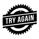 Try Again rubber stamp Royalty Free Stock Photo