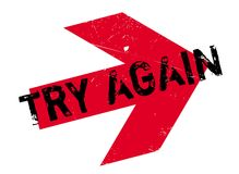 Try Again rubber stamp Stock Image