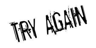 Try Again rubber stamp Stock Photo