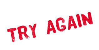 Try Again rubber stamp Royalty Free Stock Image