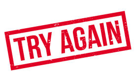 Try Again rubber stamp Stock Photography
