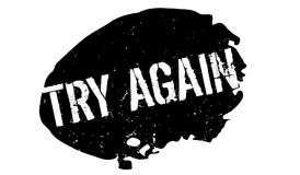 Try Again rubber stamp Royalty Free Stock Images