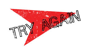 Try Again rubber stamp Stock Images