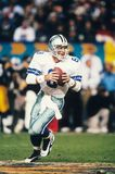 Troy Aikman Dallas Cowboys. Try Aikman of the Dallas Cowboys in game action at at Super Bowl XXX Royalty Free Stock Photography