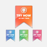 Try buttons set Royalty Free Stock Image