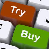 Try Buy Keys Show Shopping Online Stock Images