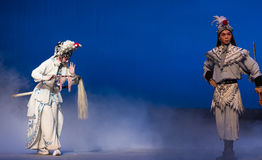 """Try fair means before resorting to force-The fifth act Steal immortal-Kunqu Opera""""Madame White Snake"""" Stock Images"""